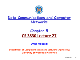 Lecture 27 - University of Wisconsin