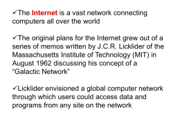 The World Wide Web - Department of Computer and Information