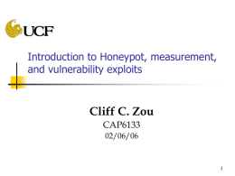 Introduction of honeypot and security measurement