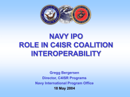 navy ipo role in c4isr international incentive