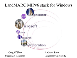 LandMARC MIPv6 stack for Windows
