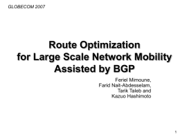 ROB: Route Optimization Assisted by BGP