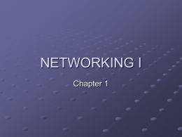 NETWORKING I
