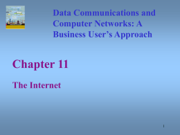 Data Communications and Computer Networks Chapter 11