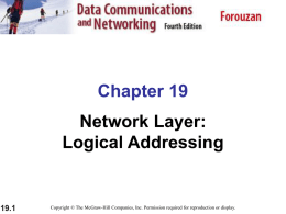 Network Layer: Logical Addressing
