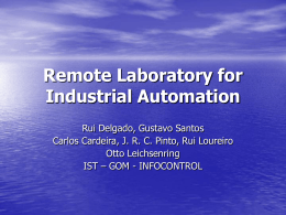 Remote Laboratory for Industrial Automation
