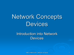 Network Devices - BtecNationalDiplomaY2