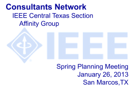 Consultant`s Network - IEEE Entity Web Hosting
