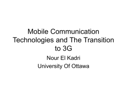 Transition to 3G
