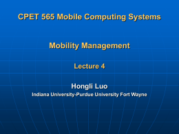 Mobility Management (1)