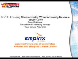 Ensuring Service Quality While Increasing Revenue