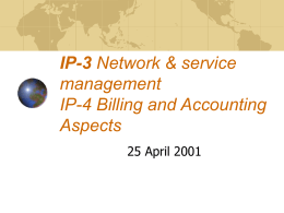 IP-3 management IP-4 Billing and Accounting Aspects