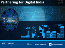 Cisco`s Play in Digitised India