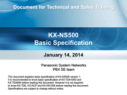 1. NS500 - Basic Spec 2014-0114