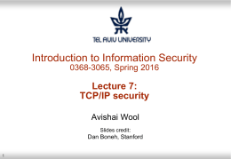 TCP/IP security - Cs Team Site | courses.cs.tau.ac.il
