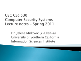 PPT - Center for Computer Systems Security
