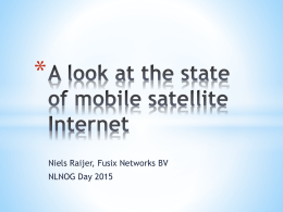 A look at the state of mobile satellite Internet