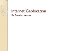 Internet Geolocation - University of Wisconsin