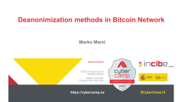 Deanonimization in Bitcoin Networkx