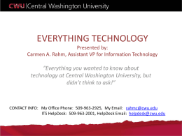 EVERYTHING TECHNOLOGY Presented by