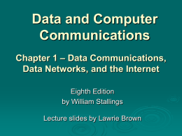Chapter 1 - William Stallings, Data and Computer
