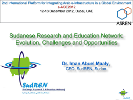 Iman Abu El Maaly, Sudanese Research and Education