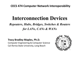 Interconnection Devices - California State University, Long Beach