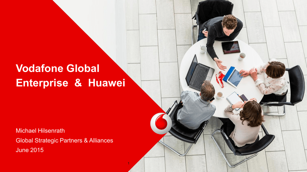solution partner story with huawei: vodafone sharing michael, Presentation templates