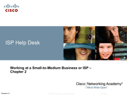 chp2 - Cisco Networking Academy