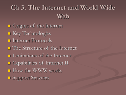 Ch 3. The Internet and World Wide Web