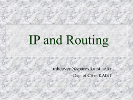 IP and Routing - SPARCS