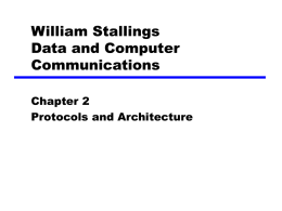 2. Protocols and Architecture