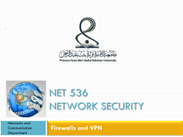 Firewalls and VPN