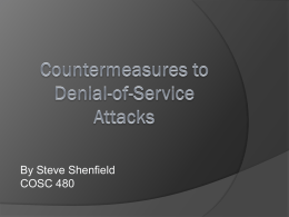 Countermeasures to Denial-of