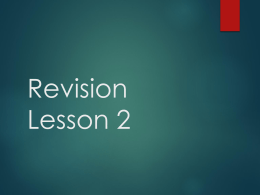 Revision Lesson 2 - TeachMeComputing