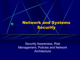 Network and Systems Security