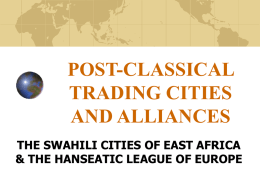 post-classical trading cities and alliances