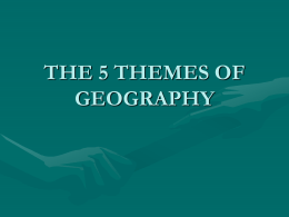 5 Themes Geography Power Point