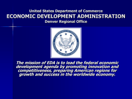 EDA-Denver, Jodi Duncan - Wyoming Economic Development