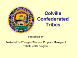 Colville Confederated Tribes - Spokane Regional Health District