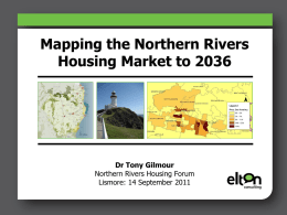 Mapping the Northern Rivers Housing Market to 2036