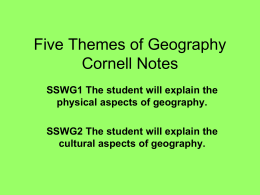 Five Themes of Geography Cornell Notes