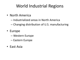 World Industrial Regions