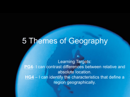 5 Themes of Geography - Maryville City Schools / Homepage