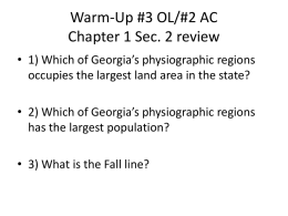 Warm-Up #2 OL Chapter 1 Sec. 2 review