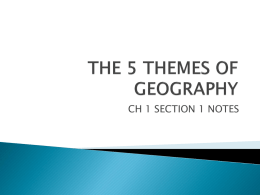 PPT-Five Themes of Geography
