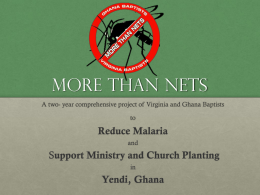 More Than Nets - BGAV - Baptist General Association of