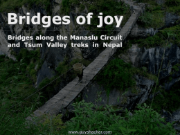 Bridges of Manaslu and Tsum Valley Nepal