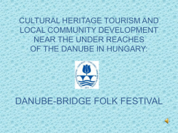 CULTURAL HERITAGE TOURISM AND LOCAL COMMUNITY …
