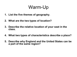 5 THEMES OF GEOGRAPHY - Scott County School District 1